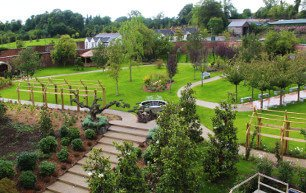 The beautifully landscaped Spa Garden, situated towards the rear of the Thermal Spa Village.